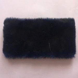 Furry muff scarf